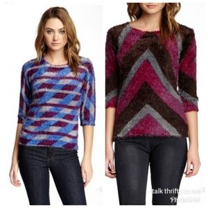 CUSTO BARCELONA | Lot of 2 Eyelash Knit Pullovers